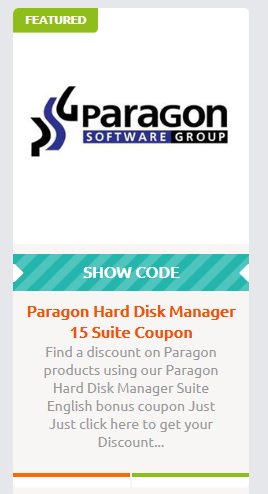 Paragon Hard Disk Manager Suite 15 Coupon