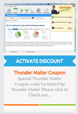 Thunder Mailer Coupon