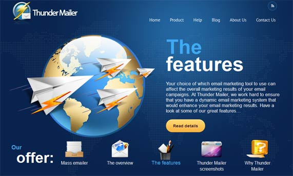 Thunder Mailer Features