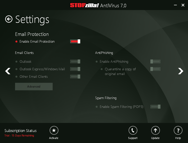 STOPzilla_antivirus_7_email_settings
