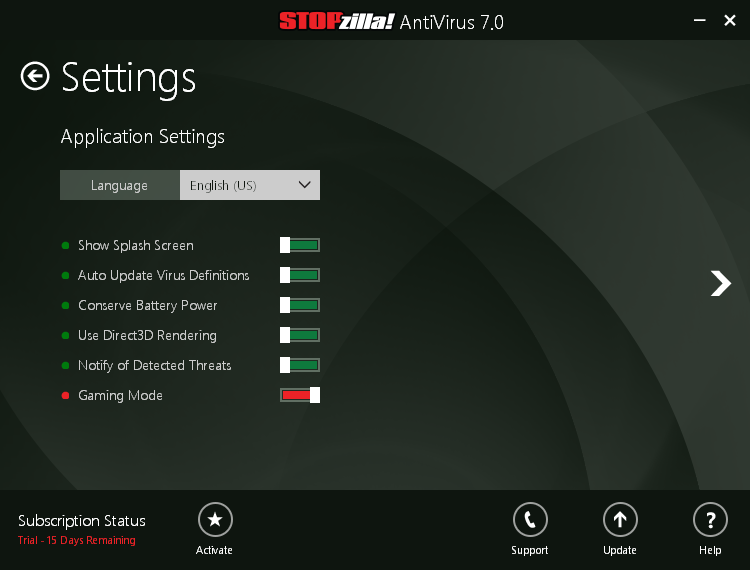 STOPzilla_antivirus_7_general_settings
