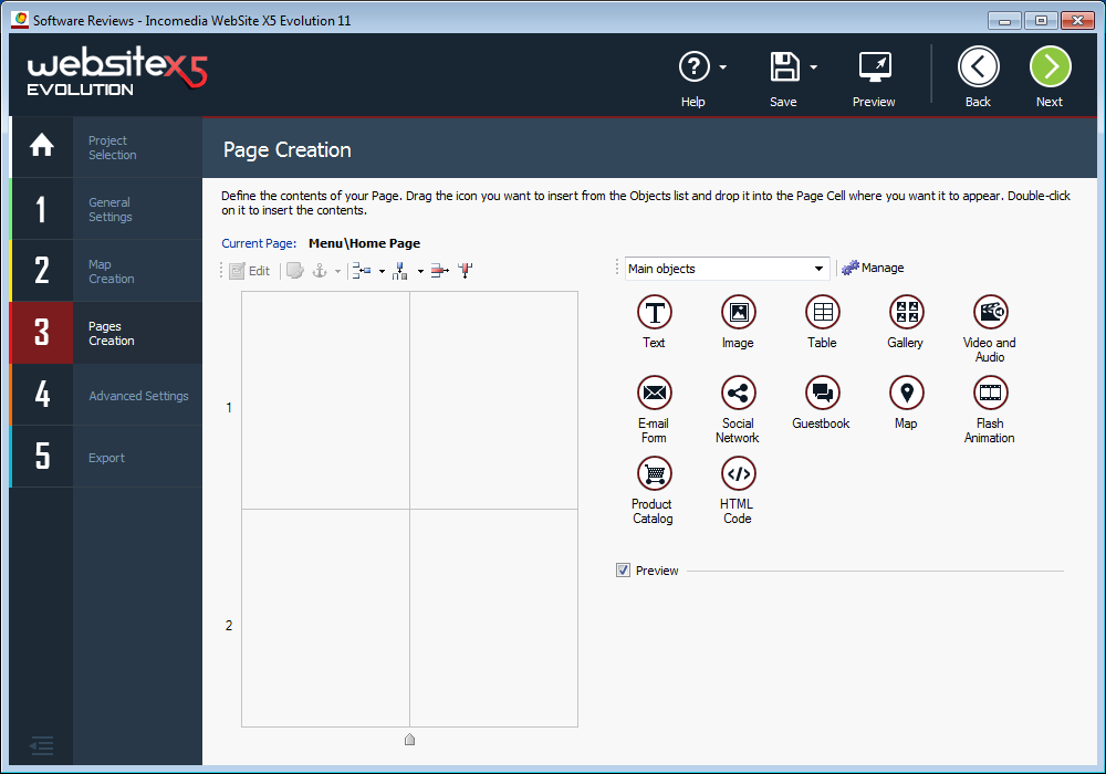 Website_X5_Evolution_11_page_creation
