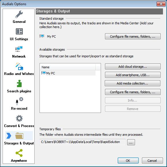 Audials_Storage_Output