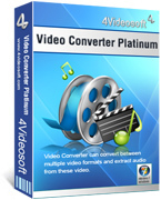 4Videosoft Video Converter Platinum Sale Coupon