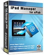 4Videosoft iPad Manager for ePub Coupon Sale