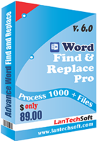 LantechSoft Advance Word Find & Replace Pro Coupon Sale