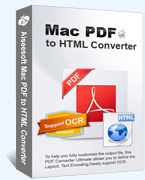 15% off – Aiseesoft Mac PDF to HTML Converter