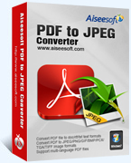 Aiseesoft PDF to JPEG Converter Coupon 15%