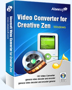 Aiseesoft Video Converter for Creative Zen Coupon 15% Off