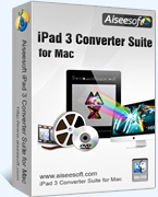 Instant 15% Aiseesoft iPad 3 Converter Suite for Mac Coupon Discount
