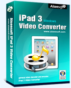 Aiseesoft iPad 3 Video Converter Coupon – 40%