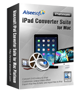 Instant 15% Aiseesoft iPad Converter Suite for Mac Platinum Coupons