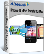 Aiseesoft iPhone 4S ePub Transfer for Mac Coupon – 40%