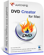 AnyMP4 DVD Creator for Mac Lifetime License Coupon – 90%