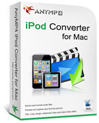 20% AnyMP4 iPod Converter for Mac Coupon Code
