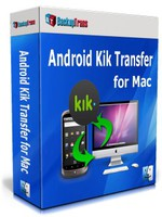 Special Backuptrans Android Kik Transfer for Mac (Personal Edition) Discount