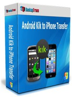 Exclusive Backuptrans Android Kik to iPhone Transfer (Family Edition) Coupon Sale
