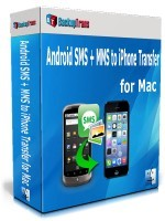 Backuptrans Android SMS + MMS to iPhone Transfer for Mac (Family Edition) Coupon