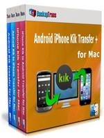 Backuptrans Android iPhone Kik Transfer + for Mac (Family Edition) Coupon Sale