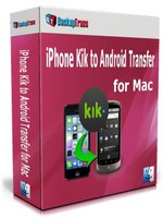 Backuptrans iPhone Kik to Android Transfer for Mac (Personal Edition) Coupon