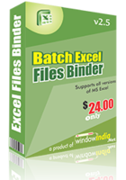 15% OFF – Batch Excel Files Binder