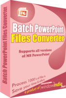 Window India Batch PowerPoint File Converter Coupon