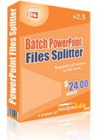 Batch PowerPoint Files Splitter Coupon 15% OFF