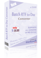 Batch RTF to Doc Converter Coupon Code