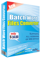 Window India Batch Word Files Converter Coupon Code