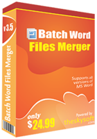 Batch Word Files Merger Coupon Code 15%