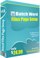 TheSkySoft Batch Word Files Page Setup Coupon