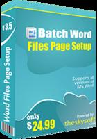 TheSkySoft Batch Word Files Page Setup Coupon