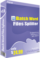 Batch Word Files Splitter Coupon Sale