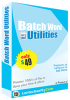 LantechSoft Batch Word Utilities Coupon