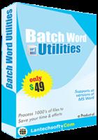 LantechSoft Batch Word Utilities Coupon