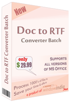 Window India Doc to RTF Converter Batch Coupon