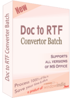 Doc to RTF Converter Batch Coupon Discount