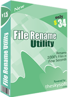 File Rename Utility – 15% Discount