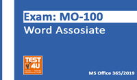 MO-100 Word Associate Exam – Office 365 & Office 2019 – English version – 25 hours of access Coupon Code 15% OFF