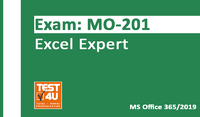 Test4u.eu MO-201 Excel Expert Exam – Office 365 & Office 2019 – English version – 25 hours of access Coupon