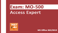 MO-500 Access Expert Exam – Office 365 & Office 2019 – English version – 25 hours of access Coupon 15% OFF