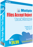Special Multiple Files Accept & Reject Track Changes Coupon