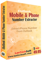 LantechSoft Outlook Mobile and Phone Number Extractor Coupon Sale