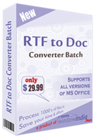 RTF TO DOC Converter Batch Coupon Code
