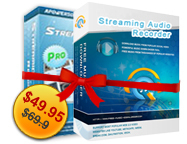 Streaming Video Recorder + Streaming Audio Recorder Personal License Coupon