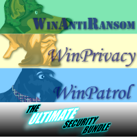 Ultimate Bundle 5 User License for WinAntiRansom WinPatrol and WinPrivacy w/ Annual Renewal Coupon