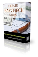 Unlimited Paycheck Stub Templates Coupons 15% OFF