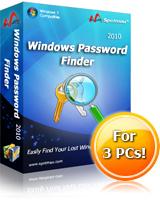 Windows Password Finder 2010(Special Sale) Coupon – 10%