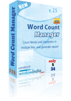 15% off – Word Count Manager
