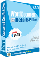 Word Document Details Editor – 15% Off